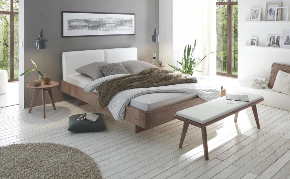 Oak line bed cognac hout Hasena